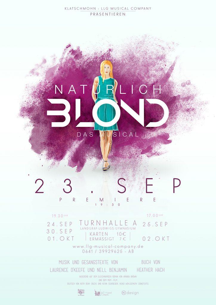 Natürlich Blonde Plakat